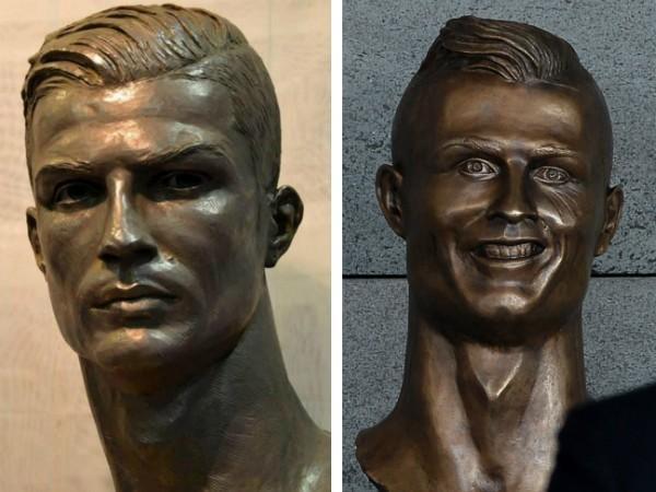 """Cristiano Ronaldo ganha busto """"corrigido"""" para Museu do Real Madrid"""
