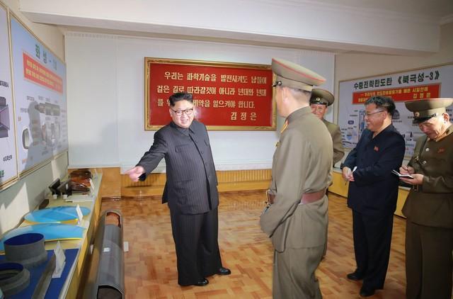 Líder norte-coreano Kim Jong-un (Crédito: KCNA)
