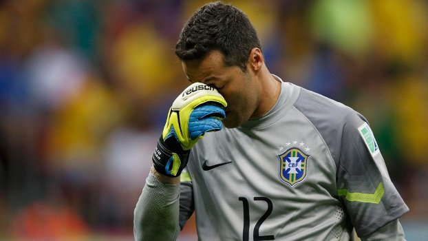 Júlio César foi o goleiro brasileiro que mais tomou gols em Copa do Mundo (Crédito: Getty)