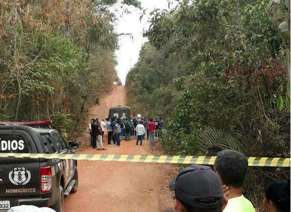 Local onde o corpo de Camilla Abreu foi encontrado (Crédito: Reprodução)