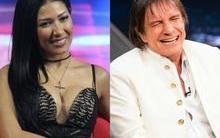 """Em gravação com Roberto Carlos, Simaria pergunta: """"Tem cachaça?"""""""
