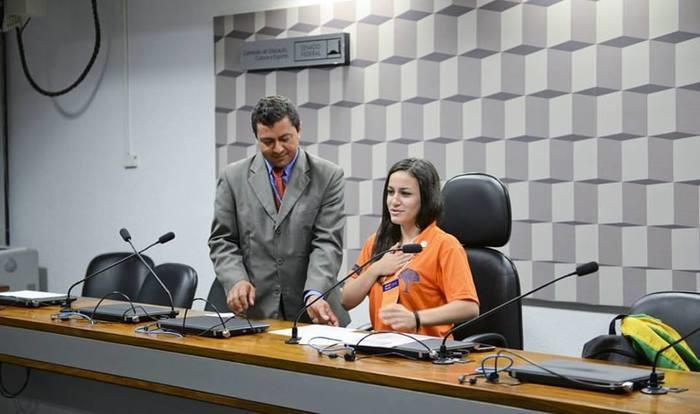 A jovem já representou o Piauí no programa Jovem Senador (Crédito: Reprodução)