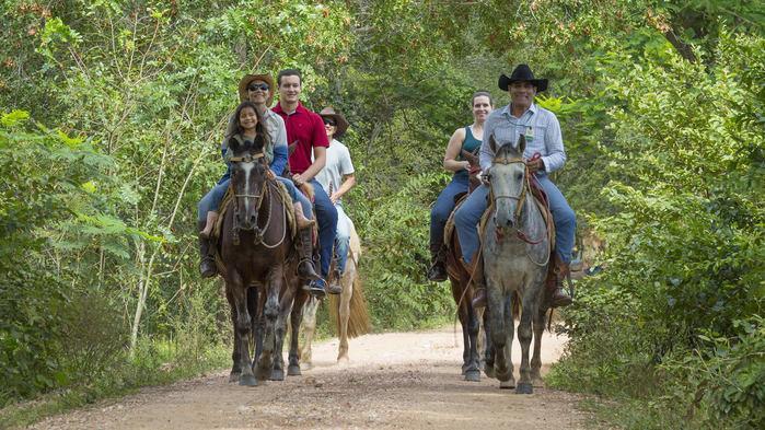 Bonito, Mato Grosso do Sul. Passeios a cavalo, no roteiro.  (Crédito: Divulgação)