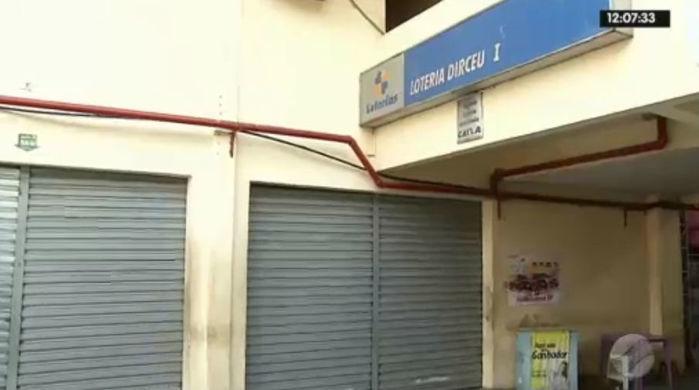 Casa lotéria localizada no Dirceu I, zona Sudeste de Teresina (Crédito: Rede Meio Norte)