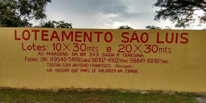 Continua as vendas do Loteamento São Luis.