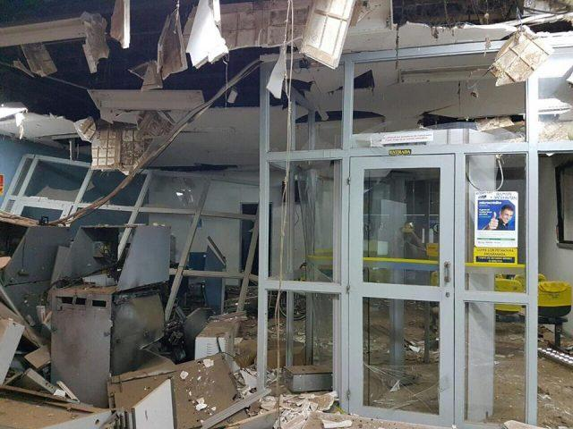 Agência do BB de Santa Cruz do Piauí ficou destruída (Crédito: Reprodução)