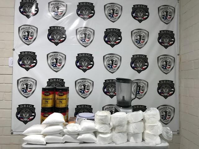 Cocaína apreendida no Maranhão (Crédito: Divulgação)