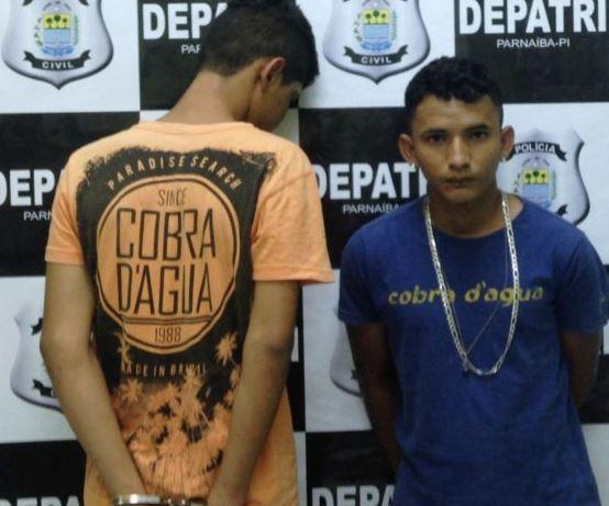 Suspeitos de assaltar criança de 10 anos são presos em Parnaíba (Crédito: Reprodução)