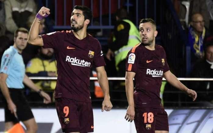Luis Suárez fez o primeiro gol (Crédito: LANCE)
