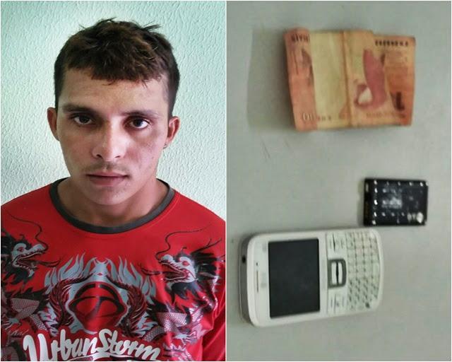 Jovem celular roubado por R$ 10 e é preso pela Polícia Militar