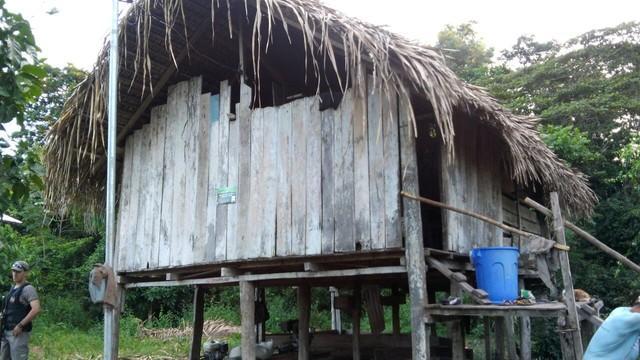 Local onde ocorreu o crime (Crédito: Divulgação/Polícia Civil))