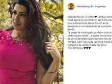 Naldo volta ao Instagram, bloqueia comentários e se declara para ex