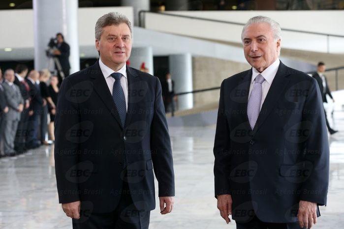 Temer e o presidente da Macedônia (Crédito: Agência Brasil)