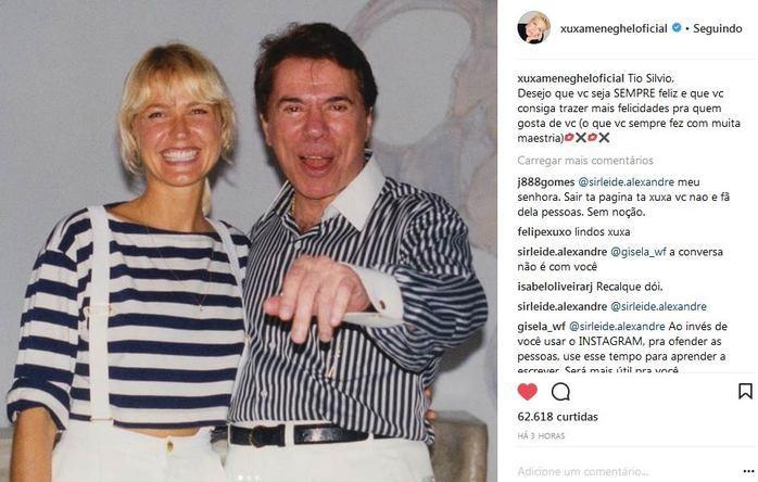 Xuxa faz homenagem para Sílvio Santos