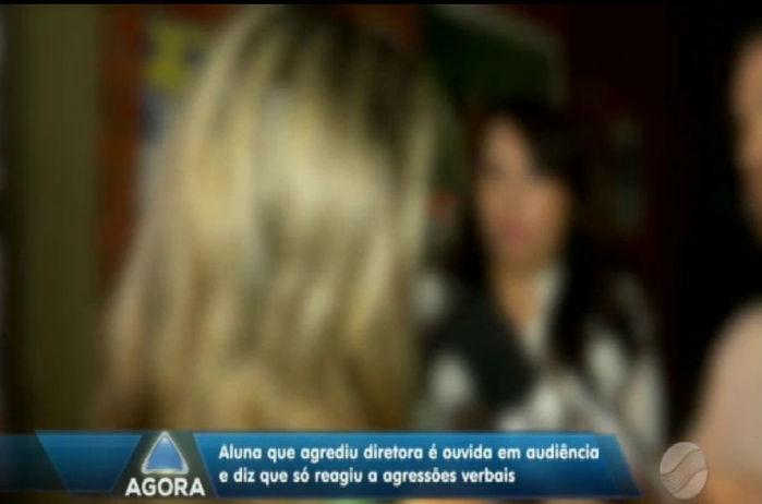 Aluna diz que foi agredida verbalmente por diretora (Crédito: Rede Meio Norte)