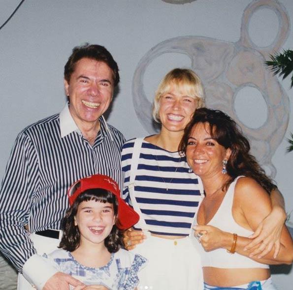 Xuxa, Silvio, Iris e filha de Silvio