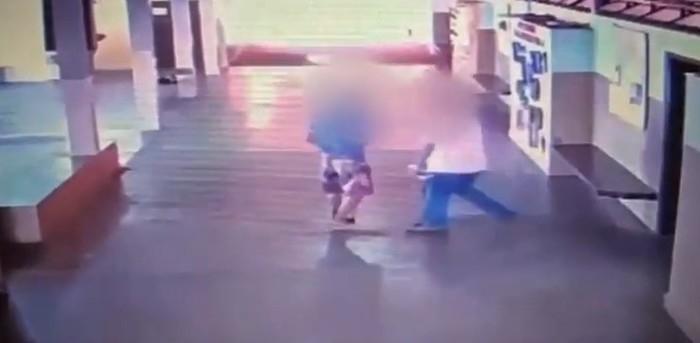 Menor dá voadora em inspetor após ser expulso de sala de aula