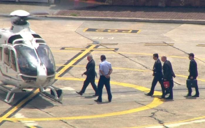 Temer vai de helicóptero para o hosital em São Paulo (Crédito: Reprodução)