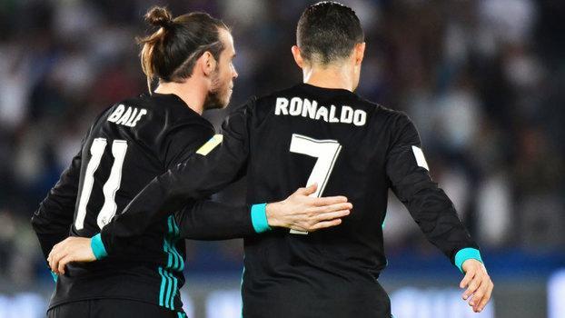 Cristiano Ronaldo e Gareth Bale comemoram o gol da vitória do Real Madrid (Crédito: Getty)