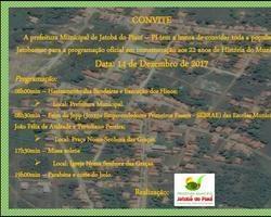 Prefeitura municipal de Jatobá convida a população para aniversário