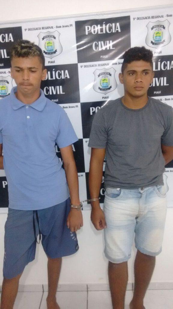Dupla é presa após praticar vários assaltos em Bom Jesus (Crédito: Polícia Civil)