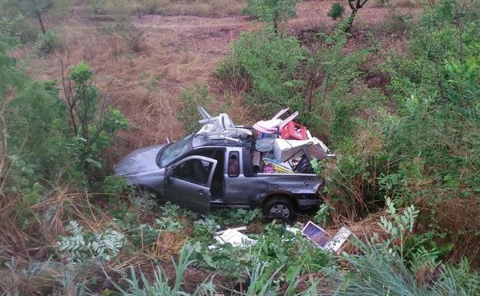 Veículo envolvido em acidente na BR-316 (Crédito: Reprodução)