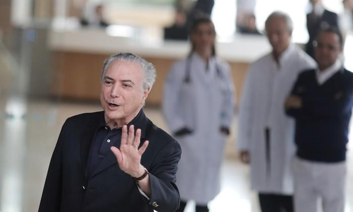 Temer recebe alta de hospital em São Paulo
