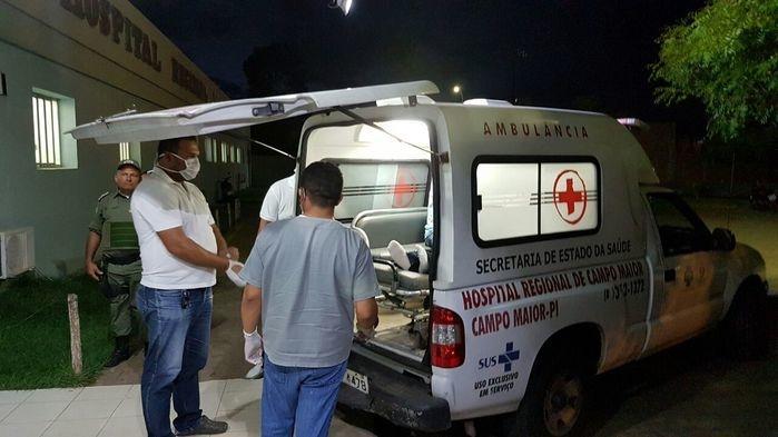 Corpo foi levado para o Hospital de Campo Maior (Crédito: Campo Maior em Foco)