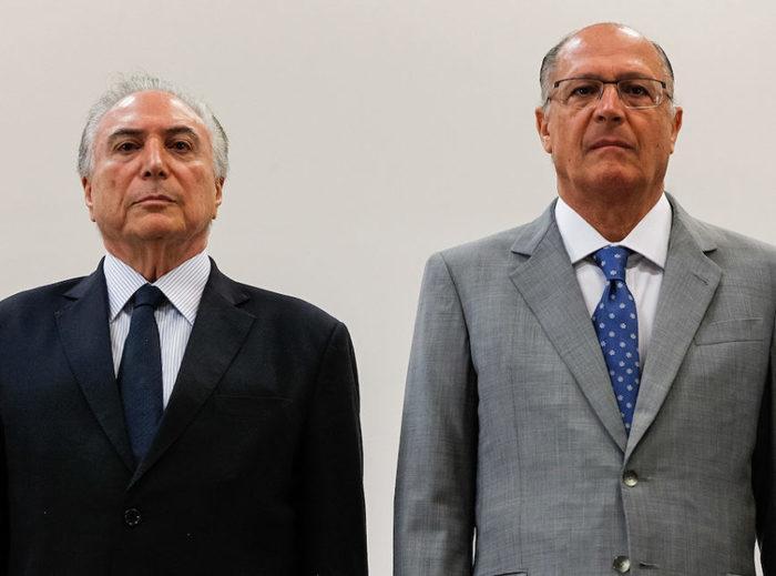 Presidente Temer e Geraldo Alckmin (Crédito: Marcos Corrêa/PR )