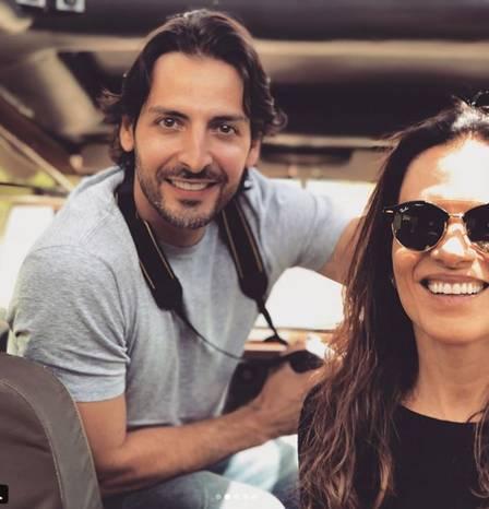 Mara Carvalho com o namorado, Carlos Martin