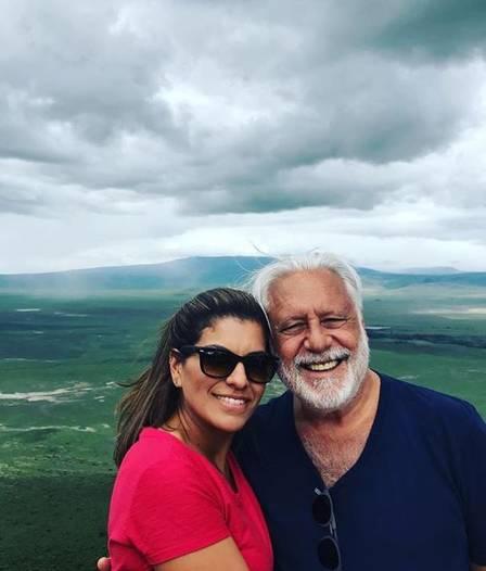 Antonio Fagundes com a filha, Diana