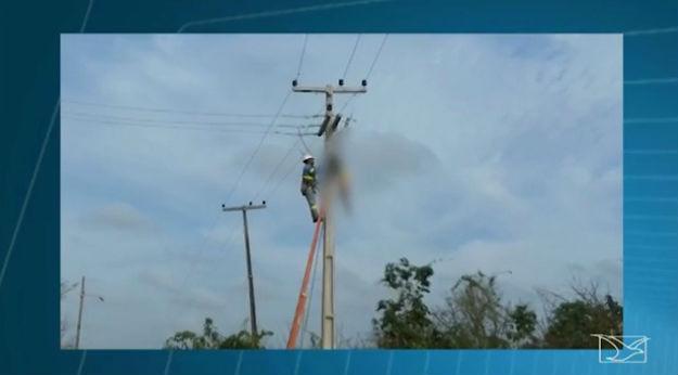 Homem morre após receber forte descarga elétricsa em Codó (Crédito: TV Mirante)