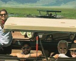 Antônio Fagundes vai para África com os filhos, ex e atual esposa