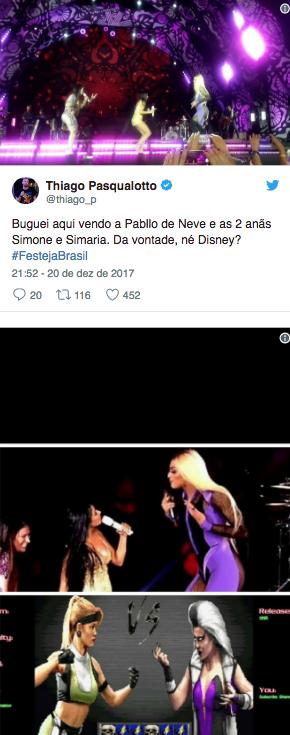 Diferença de altura de Pabllo Vittar e Simone e Simaria vira meme
