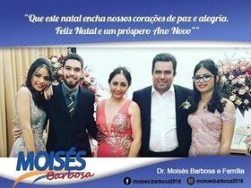 Mensagem de Natal aos amigos do Dr. Moisés Barbosa.