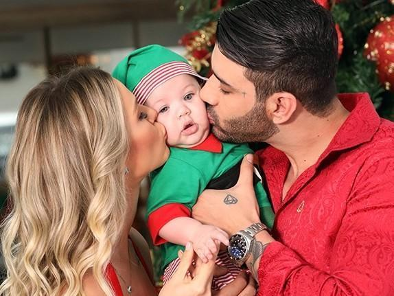 Gusttavo Lima sobre Natal com esposa e filho:'Me sinto completo'