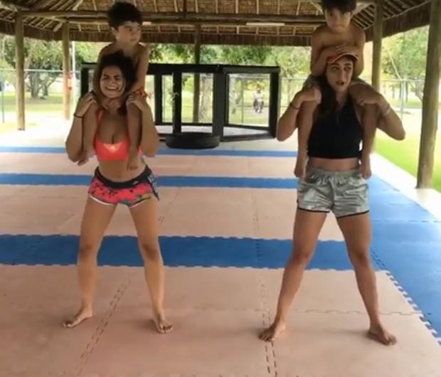 Juliana Paes mostra treinamento (Crédito: Instagram)