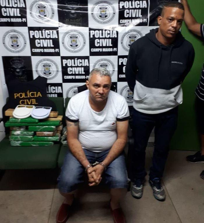 Foragido da Justiça do Piauí é preso com drogas no Ceará (Crédito: Polícia Civil)
