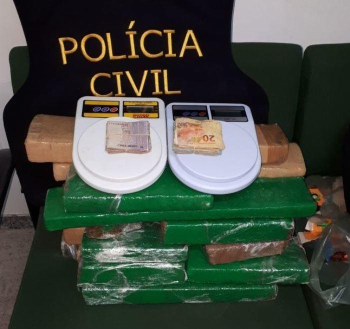 Foragido da Justiça do Piauí é preso com drogas no Ceará (Crédito: PM)