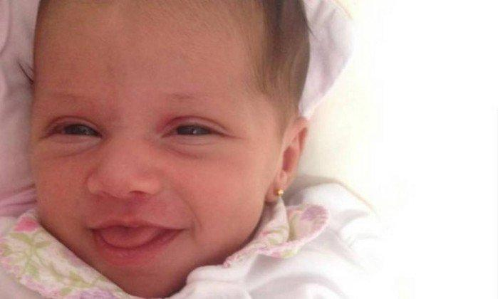 Antonella, de 3 meses, foi atropelada em São Gonçalo e não resistiu aos ferimentos (Crédito: Reprodução )