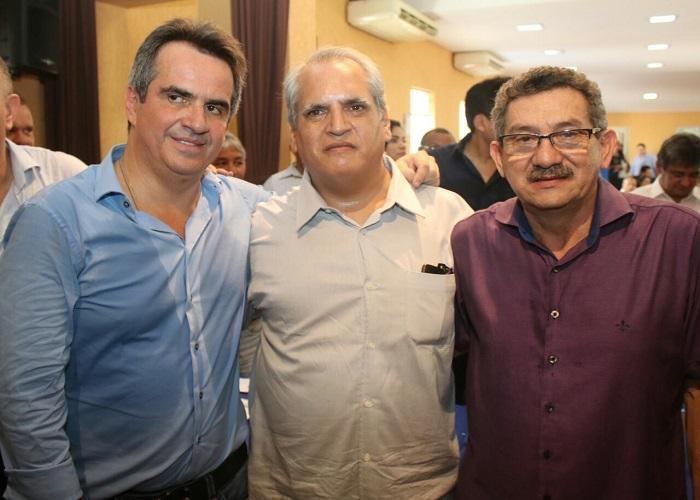 Senador Ciro Nogueira, Empresário Nelson Nogueira e Prefeito Alvimar Martins  (Crédito: Enviadas)
