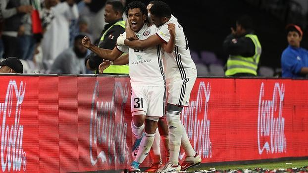 Romarinho comemora o gol da vitória do Al Jazira sobre o Auckland (Crédito: Getty)