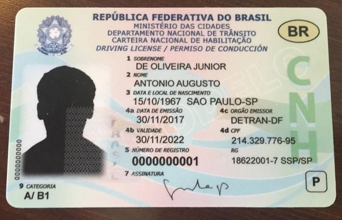 CNH vai mudar novamente e virar um cartão com chip até 2019   (Crédito: Divulgação/Denatran)