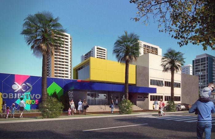 Protótipo do prédio da escola, em região nobre de Teresina