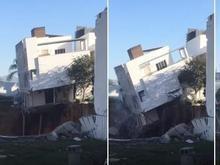 Buraco no quintal engole residência no México; veja o vídeo