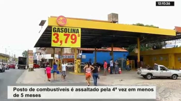 Posto de combustível alvo de quatro assaltos (Crédito: Rede Meio Norte)