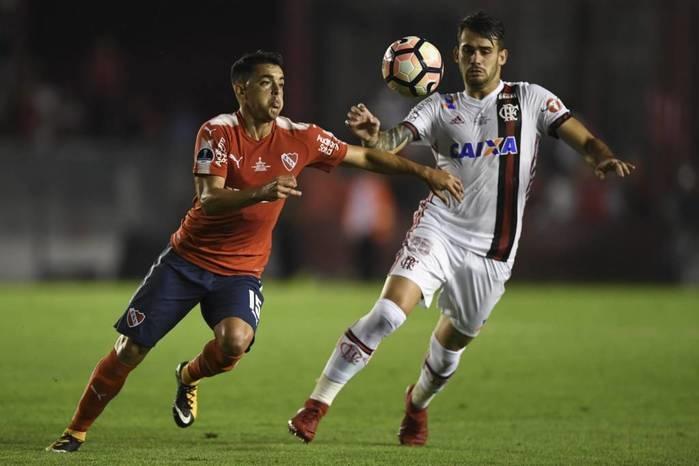 Flamengo e Independiente disputaram o primeiro jogo da final da Copa Sul-americana (Crédito: AFP)