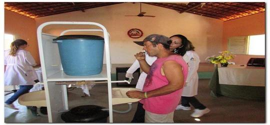 Pacientes dos Caps de Inhuma recebem orientações em saúde bucal