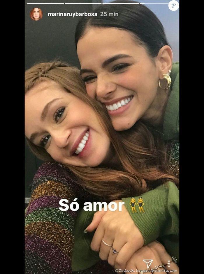 Marina Ruy Barbosa e Bruna Marquezine (Crédito: Reprodução)
