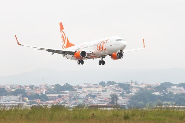 Avião da Companhia Gol  (Crédito: Celso Tavares/G1)